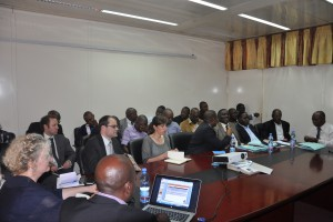 Launching ceremony of the artisanal and small scale mining project with Pact, ELL and IPIS in Kinshasa. Picture by Pact.