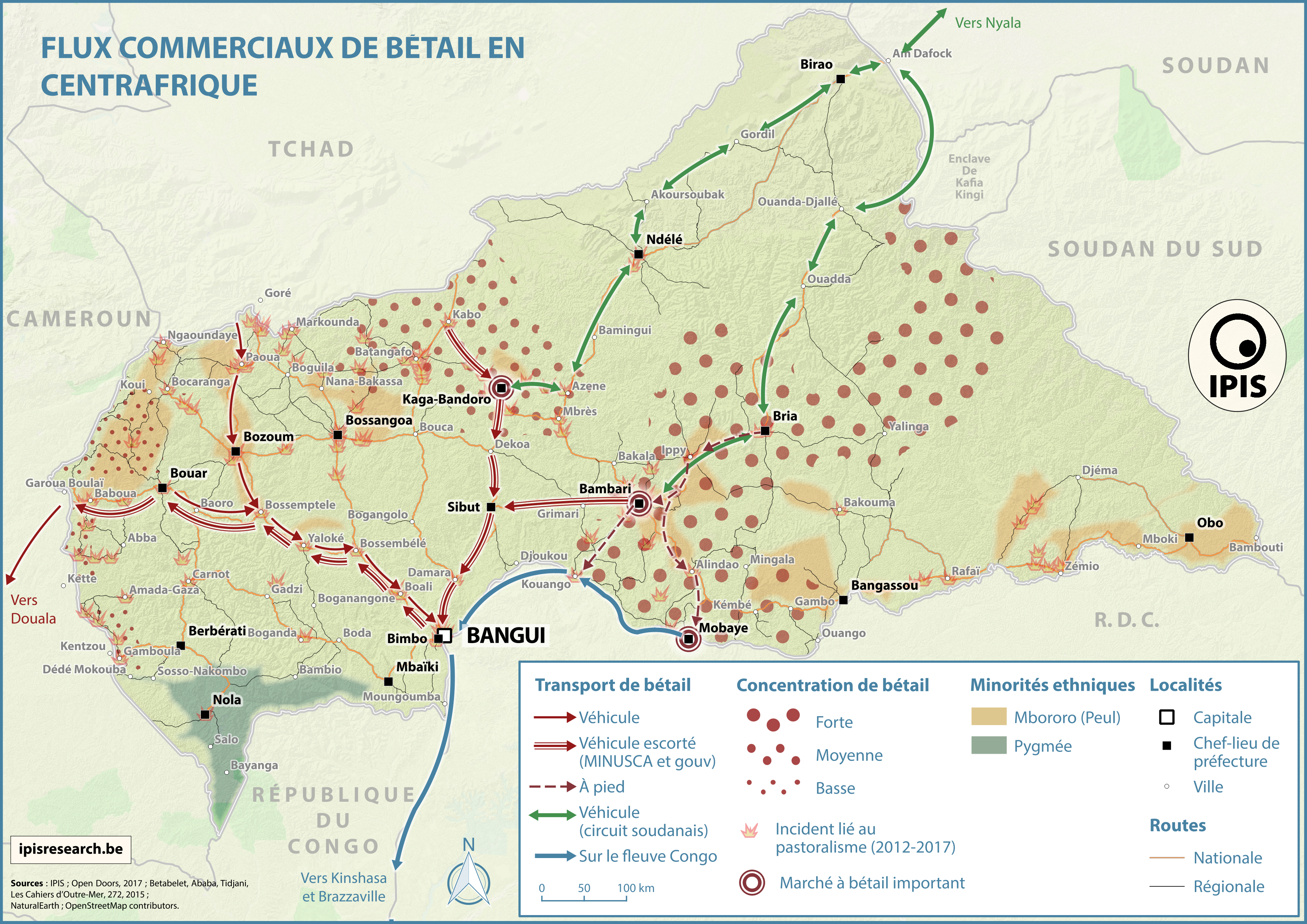 Pastoralism corridors in Central African Republic IPIS