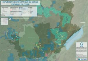 Map of Ituri 2020