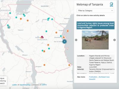 Webmap B&HR Tanzania